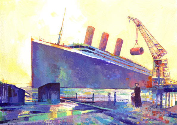 Titanic Limited Edition Painting by Debra Wenlock