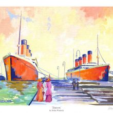 """Sisters"" - Olympic & Titanic Limited Edition Print by Debra Wenlock"