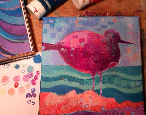 Fantasy Sea Bird - colour & pattern, Debra Wenlock