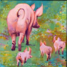 Pigs in persuit by Debra Wenlock