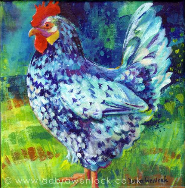 Young Speckled Hen by Debra Wenlock