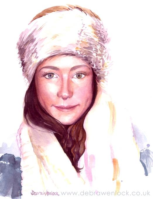 Grace Face, Watercolour Portrait by Debra Wenlock