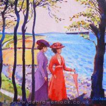 Crawfordsburn Titanic Painting in acrylic by Debra Wenlock
