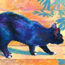 Black Cat painting by Debra Wenlock