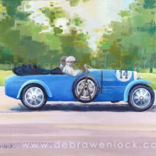 Bugatti painting by Debra Wenlock - Eirrann Cup 1929 Irish Grand Prix