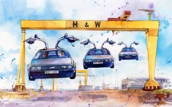 DeLoreans - Back to Belfast by Debra Wenlock