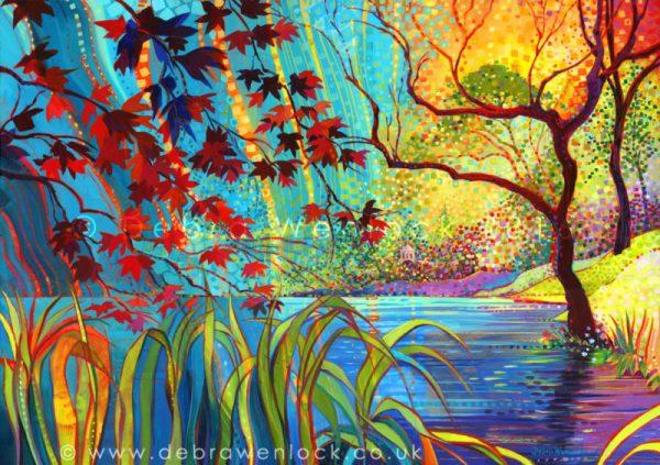 Magical Mount Stewart acrylic painting by Debra-Wenlock