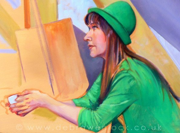 Portrait in Green by Debra Wenlock
