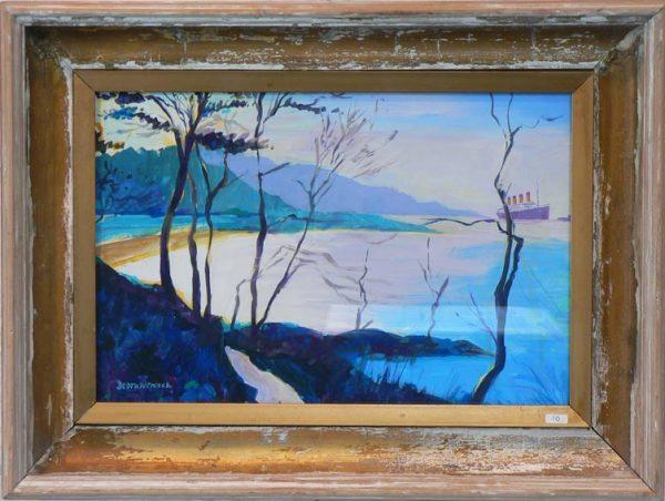 Helen's Bay Titanic Painting by Debra Wenlock