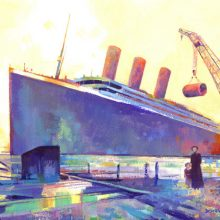 Four Funnels Titanic Painting