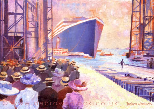 Ladies who Launch, Titanic Greetings Card by Debra Wenlock