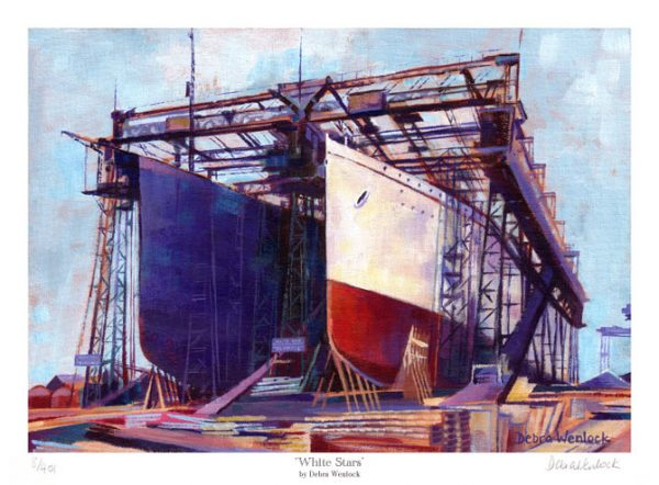 White Stars - Titanic Print by Debra Wenlock
