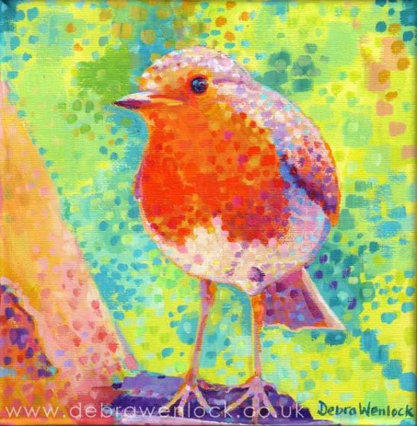 Red Red Robin Painting by Debra Wenlock