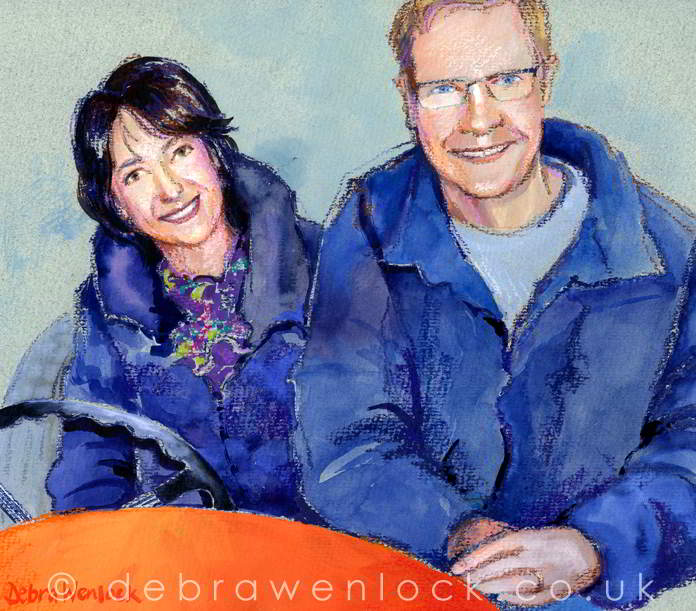 Helen and Michael - Motoring, Vintage Car portrait by Debra Wenlock