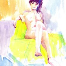 Clodagh seated nude by Debra Wenlock
