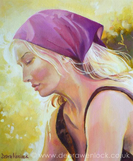 Illuminated - Portrait Painting in oils by Debra Wenlock