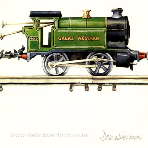 Tinplate Railway Print - Loco crop - Debra Wenlock
