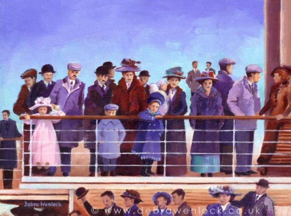 All Aboard - Titanic Painting by Debra Wenlock