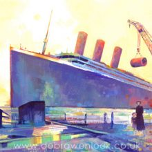 Titanic Original Paintings
