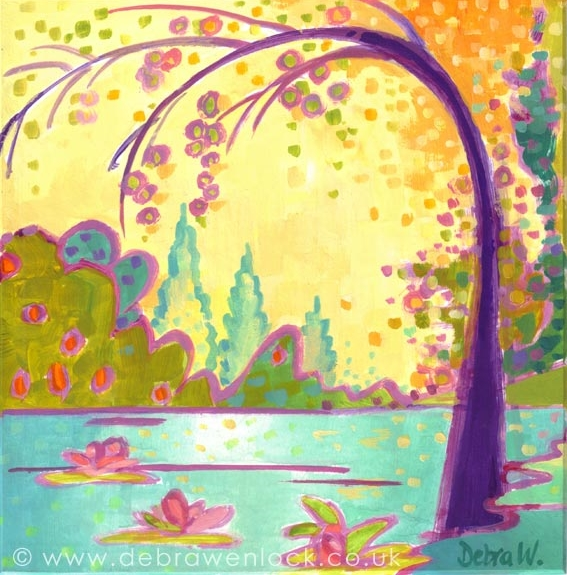"Lily Garden - ""Lily the Pink Garden"" by Debra Wenlock"