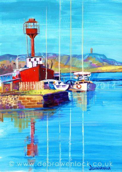 Ballydorn Lightship, acrylic painting by Debra Wenlock