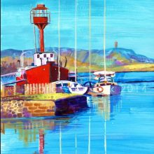 Ballydorn-Lightship-greetings card-by-Debra-Wenlock