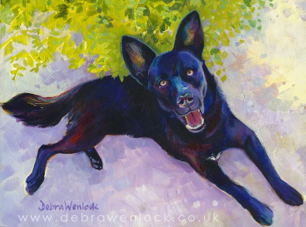 Guizell, dog portrsait by Debra Wenlock