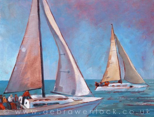 Ballyholme Sailing by Debra Wenlock