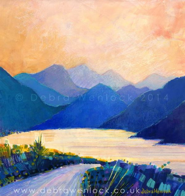 Delphi Valley Ireland, acrylic painting by Debra Wenlock
