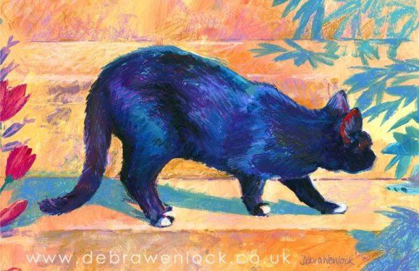 Black Cat painting by Debra Wenlock