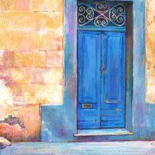 Maltese Doorway, acrylic painting by Debra Wenlock