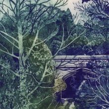 Old Coach Road, Helen's Bay - Collagraph print by Debra Wenlock