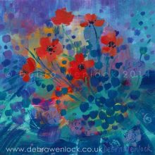 Wild Poppies, acrylic painting by Debra Wenlock