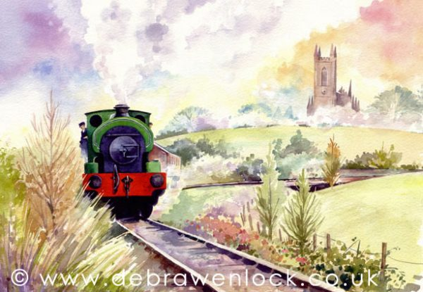 Saddle Tank Loco Harvey at Downpatrick Steam Railway by Debra Wenlock