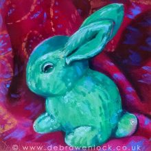 Sylvac Rabbit oil painting by Debra Wenlock