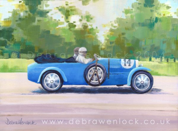 Bugatti painting by Debra Wenlock - Eirrann Cup 1929 Irish Grand Prix