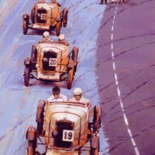 TT Talbot Trio Ards Tourist Trophy, acrylic painting by Debra Wenlock