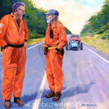 Craigantlet Hillclimb Marshals Print by Debra Wenlock
