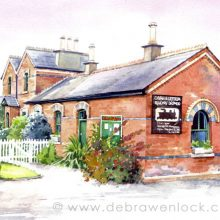 Dromod Station - watercolour painting by Debra Wenlock