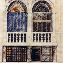 Venetian Windows - watercolour by Debra Wenlock