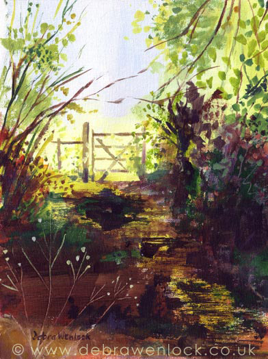 Secret Garden - acrylic painting by Debra Wenlock