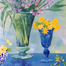 Spring Flowers painting by Debra Wenlock