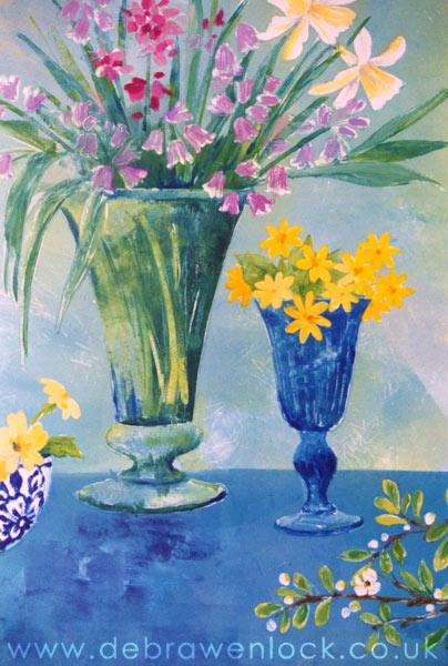 Spring Flowers painting by Debra Wenlock
