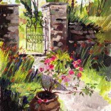 Valentia Garden, oil painting by Debra Wenlock