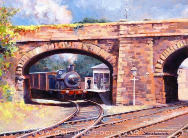 A Quiet Day at Bundoran Junction - Irish railway painting by Debra Wenlock