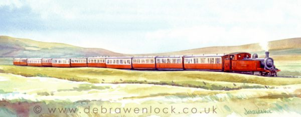 Blanche Bank Holiday Special, Donegal - Irish Railway Painting by Debra Wenlock