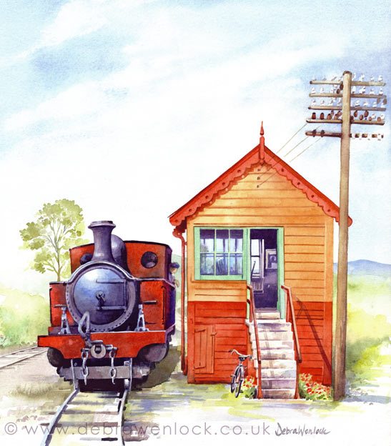 Donegal Signal Cabin - watercolour painting by Debra Wenlock