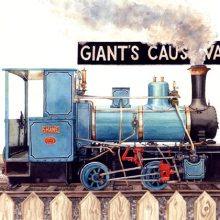 Shane, Giants Causeway Loco - Irish Railway Painting by Debra Wenlock