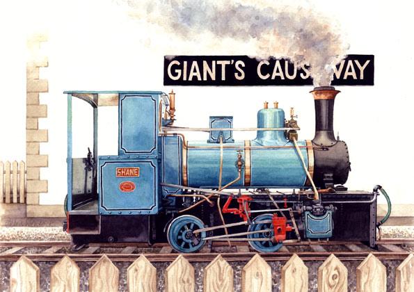 Shane, Giants Causeway Loco - Irish Railway Painting by Debra Wenlock
