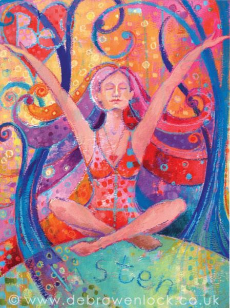 """Listen"" Fearless Sisters Oracle Card by Debra Wenlock"